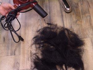 かなりの髪の量