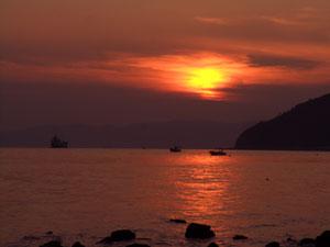笠岡の夕景