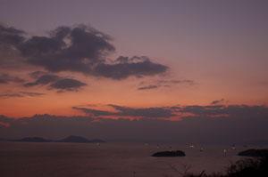 三百山の夕景