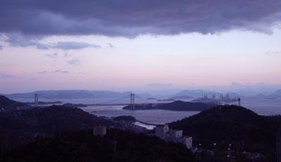 三百山からの瀬戸大橋