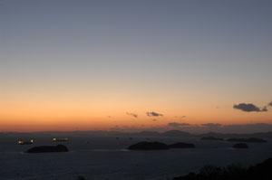 三百山の夕焼け