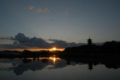 吉備路国分寺の夕景