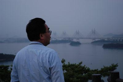 加藤先生と瀬戸大橋