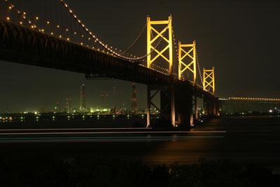 土曜は瀬戸大橋ライトアップ