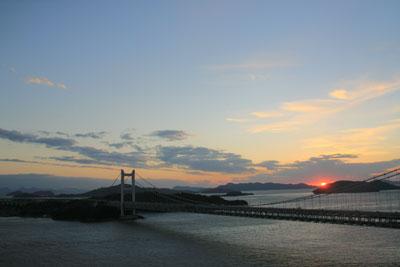 瀬戸大橋展望台からの夕景