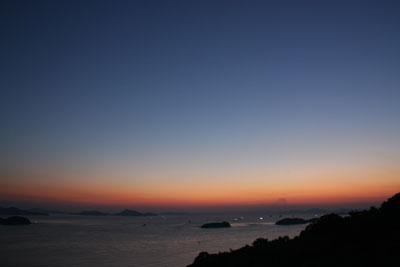 倉敷百景 三百山の夕景