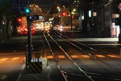 岡山路面電車のある風景