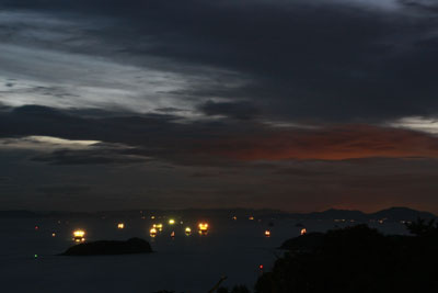 倉敷百景 三百山の夕日