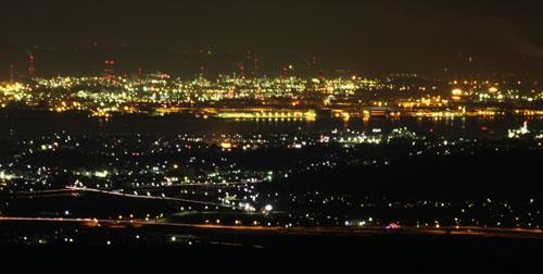 遥照山からの夜景