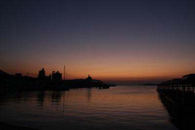 児島の朝日