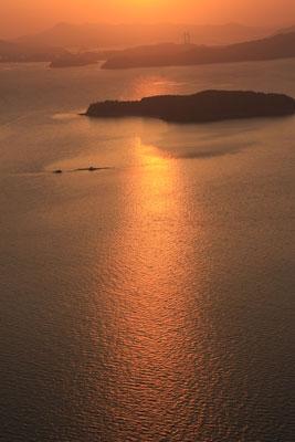 王子ヶ岳の夕日