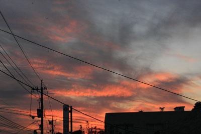 自宅からの夕景