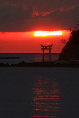 長島の朝日